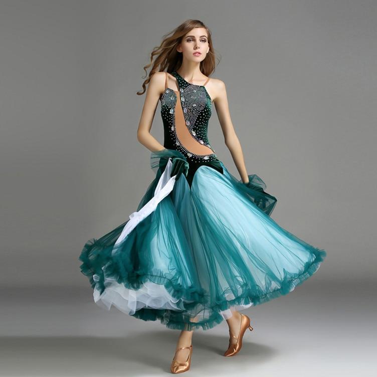 big swing green velvet standard ballroom dance font b dresses b font purple red sequins ballroom