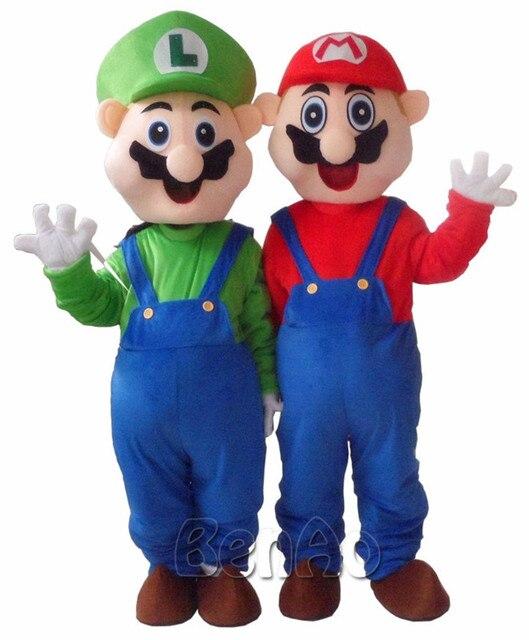 MC005 Бесплатная доставка Super Mario мультфильм костюмы талисмана партии подарок Необычные Платья Взрослый Размер на заказ/cortoon костюм для 1 компл.