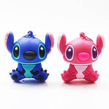 Stitch USB Flash Drive 64GB Pen Drives 32GB 16GB 8GB Red/Blue Cartoon Stitch Memoria USB Stick ClE USB Flash Pendrive Disk(China)