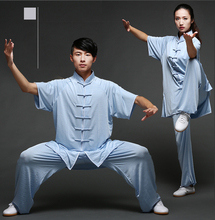 Unisex Cotton silk Blend Kung Fu Tai Chi Wushu ShaoLin Wudang Uniform Exersise Wear Bruce Lee Jackie Chan Jet Li Fighting Outfit цена в Москве и Питере