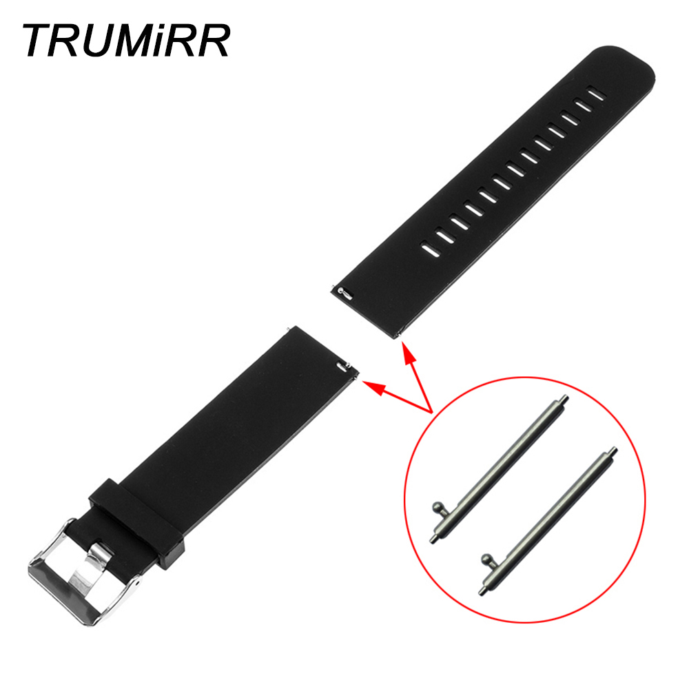 20mm 22mm Quick Release Rubber Watchband for Amazfit Huami Xiaomi Bip BIT PACE Lite Watch Band Silicon Strap Wrist Belt Bracelet 20mm 22mm stainless steel watchband quick release strap for amazfit huami xiaomi bip bit pace lite watch band wirst bracelet
