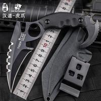 HX Freien Camping Messer Messer Karambit, D2 Klinge G10 Griff, 58HRC, rettungs Jagd Überleben Kinves EDC Werkzeuge Mit K Mantel