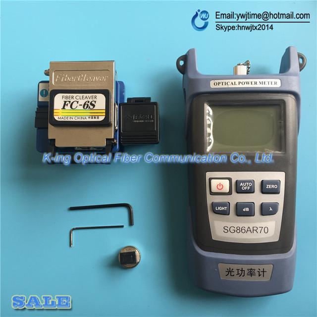 4 UNIDS FTTH Fibra medidor de potencia óptica-70 ~ 10y SG86AR70 Cuchilla De la Fibra FC-6S cuchilla de corte de fibra