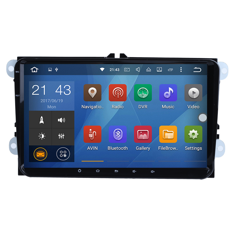 Android 6 0 2 Two Din 9 Inch Car Dvd Gps Player For Vw