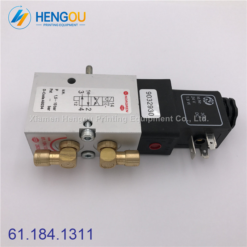 2 PCS High Quality Solenoid Valve 61.184.1311 For Heidelberg SM02 CD102 Printing Machine Compatible New new original 0820023025 solenoid valve high quality