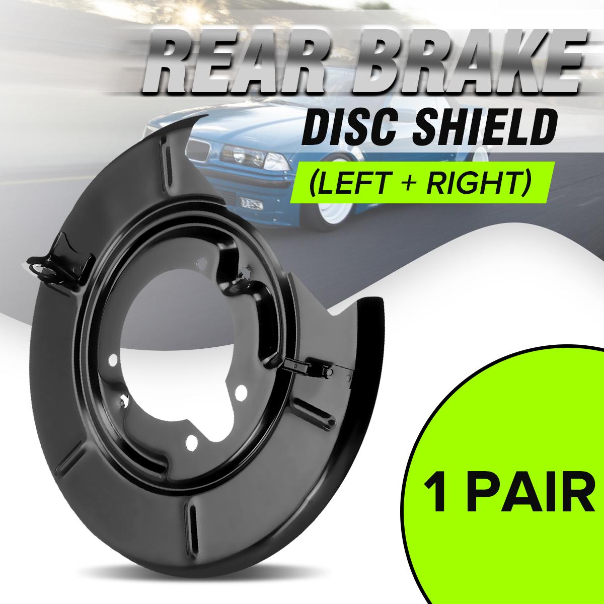 Nouveau une paire coque de protection de disque de frein arrière pour BMW E30 E36 modèles compacts Z3 pour coupé & Roadster modèles étrier de frein esclave