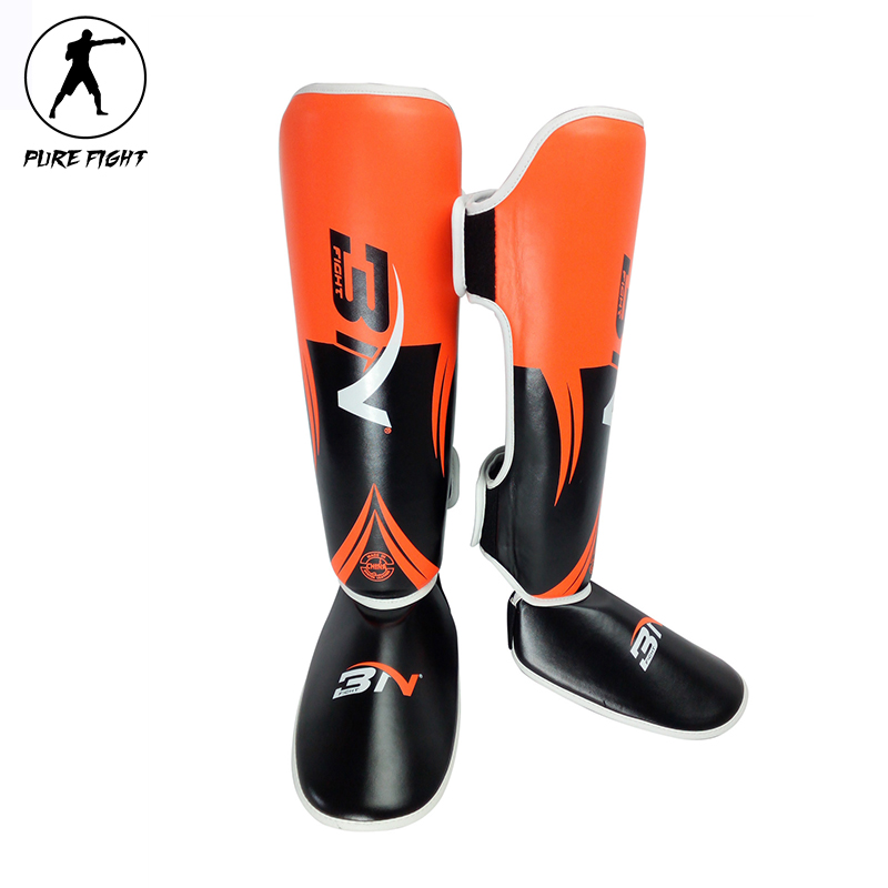 2017 New One Pair Boxing Shin Guards High Quality PU Leather Ankle Protector MMA Muay Thai Training Leg Warmers Strong Shin Pads  цены