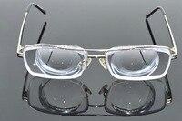Clara Vida Limit!! Silver frame men extreme high myopia high myopic myodisc goc glasses -15D PD64