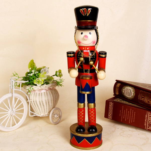 D320  Movable doll puppets 38 cm lovely version of The Nutcracker puppet musicians, wood hand-painted walnut soldiers King  1pcs ht025 free shipping movable doll puppets 13cm hardcover box painted walnut wooden nutcracker children christmas toy 2pcs lot
