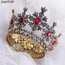 JaneVini European Vintage Baroque Rhinestone Bridal Crowns Princess Pageant Jewelry Tiaras Bride Diadem Wedding Hair Accessories(China)