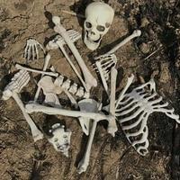 Bag of Bones Plastic Skeleton Bones Decoration for Halloween Party Indoor and Outdoor Yard Decorations