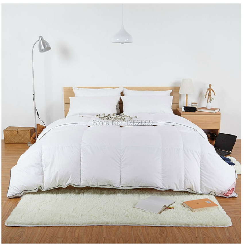 Image 5 - Winter 260 GSM Whites Goose Down Doona Blanket King Queen Full Twin Or Make Any Size Free Shippingtwin sizeblanket with sleeves kidsblanket pile -
