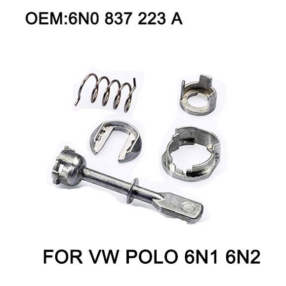 5 Piece Car Iron Door Lock Cylinder Repair Kit For VW POLO 6N1 6N2 1997-2002 Front Left or Right OE# 6N0 837 223A
