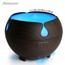 Aromacare 600ml Aromas Humidifier Air Diffusers Mini Air Humidifier Dark Wood Grian Aroma Diffuser Mini Nebulizer Mist Machine