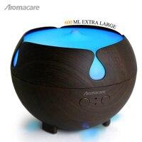 Aromacare 600mL Essential Oil Diffuser Mini Air Humidifier Dark Wood Grian Aroma Diffuser