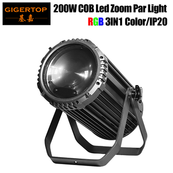卸売価格で 200 ワット RGB 3 1 COB Led パーでズーム 15-50 度からステージライト DMX 512 制御高品質ビッグパワフル