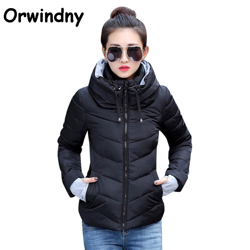 Orwindny Winter Short Jacket Women 2018 Warm   Parkas   Female Cotton-padded Coats Outerwear Jaqueta Feminina Inverno