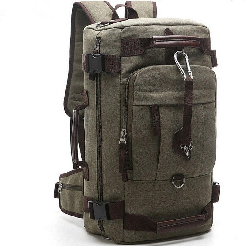 2016 Canvas Women Men multi function Travel Backpack Hike Mochilas Brand Large Bagpack Laptop Back Bag