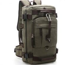 2016 lona de women & men multifunción viajes caminata mochila mochilas marca grande bagpack laptop back bolsa de bolsas de lona bolsa