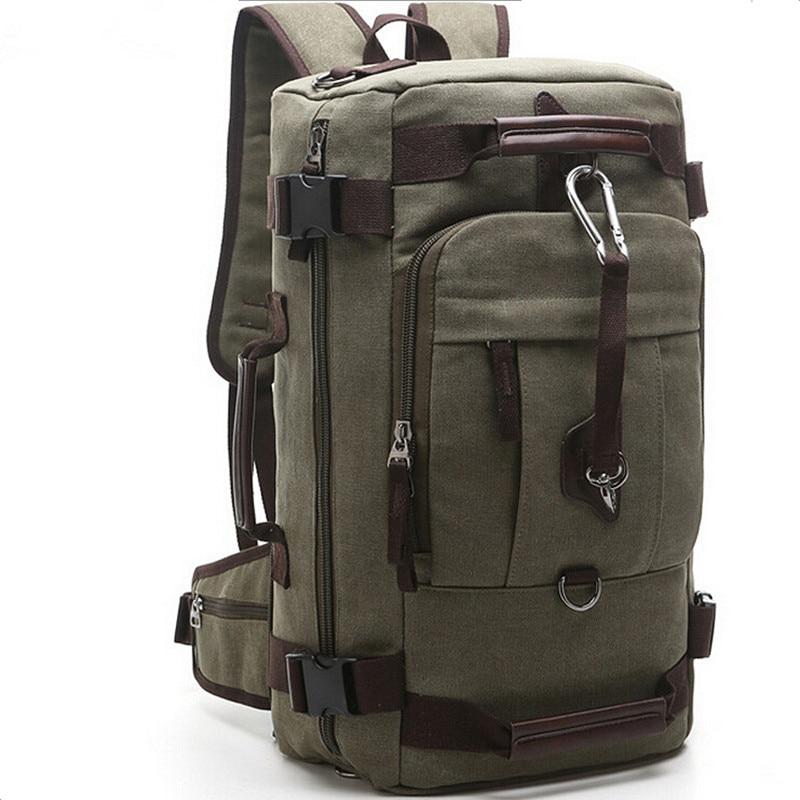Canvas Women&Men multi-function Travel Backpack Hike Mochilas Brand Large Bagpac