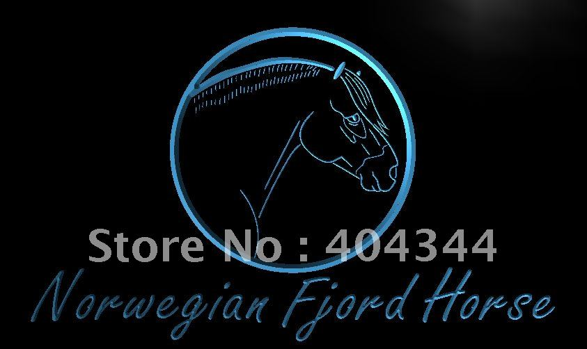 LK883- Norwegian Fjord Horse Model Gift   LED Neon Light Sign    home decor shop crafts