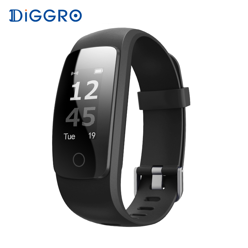 Diggro ID107 Plus RH Smart Bracelet Smartband Moniteur de Fréquence Cardiaque GPS Pris En Charge Toute la journée Fitness Tracker Bracelet Pour Android IOS