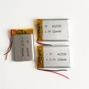 Литий-полимерная аккумуляторная батарея 3,7 В 320 мАч, 3 шт., 402535 для Mp3, Mp4, Mp5, DIY PAD, DVD, электронная книга, bluetooth гарнитура 4*25*35 м