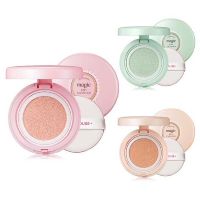 Coréia Original Mineral Precioso Magia Qualquer Almofada Rosto Makeup Primer Fundação Protetor Solar Clareador Corretivo maquiagem SPF34 PA/++
