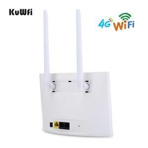Image 3 - Routeur KuWfi 4G LTE 150Mbps routeur CPE sans fil 3G/4G carte SIM routeur Wifi prise en charge 4G au réseau câblé jusquà 32 appareils Wifi