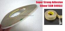 1x 58 мм * 55 М 3 М 3M 9495LE 300LSE Super Strong Важная помощью Двухсторонней Липкой Ленты для ЖК-Объектив Bonding Применение