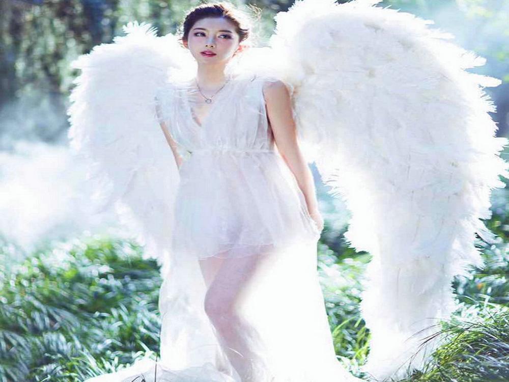 Halloween mariage grand ange fée ailes plumes t-stage modèle passerelle montre accessoires fête performance cosplay décoration jouet