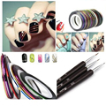 Best Sale 30Pcs Striping Line Nail Art Sticker + Nail Art Dotting Pen Brushes