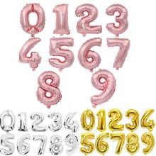 40 дюймов розовое Золотое серебряное число надувные шары из алюминиевой фольги цифры гелиевые шарики, День подарков будущей матери вечерние свадебные украшения