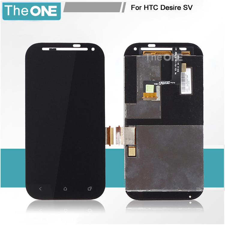 100% test ok free shipping 4.3 inch for htc desire sv t326e lcd screen with touch digitizer display complete