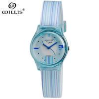 WILLIS Children Watch Fashion Brand Watches Quartz Wristwatches Waterproof Jelly Kids Clock Girls Students Silicone Wristwatches