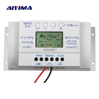 AIYIMA 12V 24V 40A Solar Charge Controller MPPT PWM 30A Voltage Settable Light and Dual Timer Control for Solar System PV Use