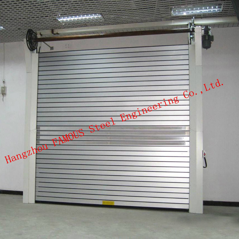 Manual Folded Push Pull Overhead High Speed Industrial Shutter Door Track And Hardware Of Aircraft Hanger