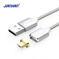 JianHan Magnetic Cable 1m Magnectic Micro USB Cable Fast Charging Data Charger Cables for Xiaomi Samsung Android Phone Micro USB
