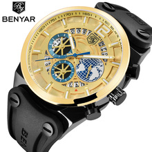 Relogio Masculino BENYAR Fashion Gold Chronograph Sport Watch Mens Top Brand Luxury Date Quartz Wrist Watches Clock Man Reloj relogio masculino benyar fashion gold chronograph sport watch mens top brand luxury date quartz wrist watches clock man reloj