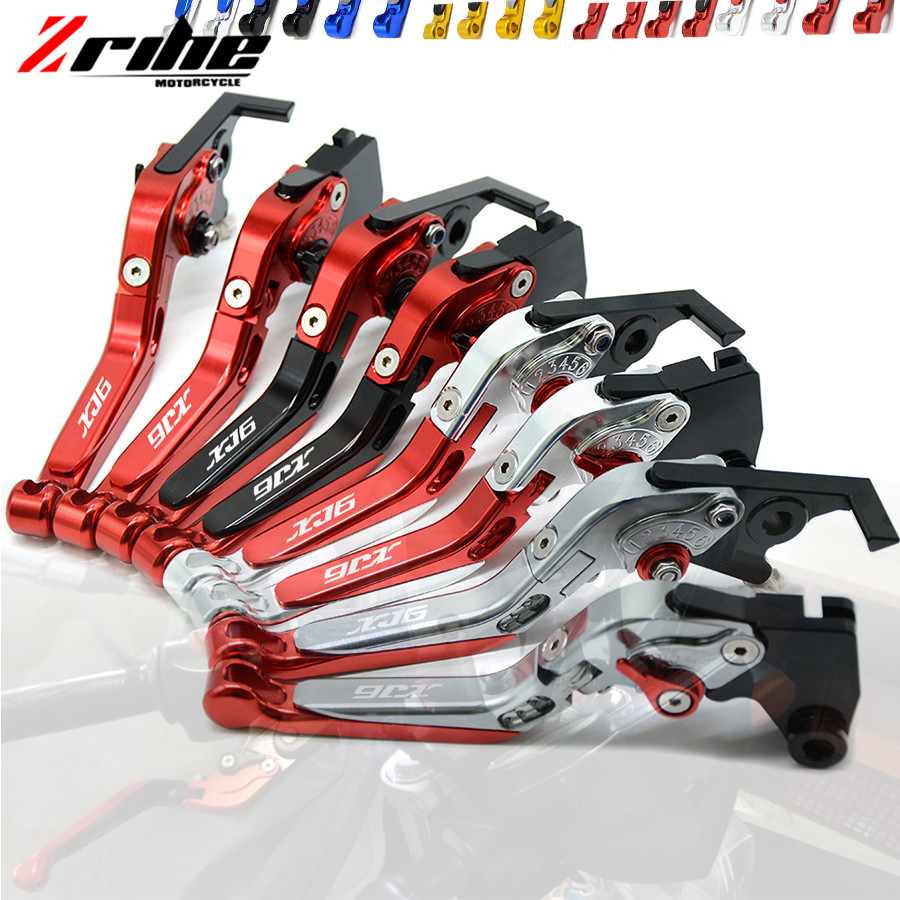 Motorcycle Accessories Folding Extendable Brake Clutch Levers LOGO XJ6 For YAMAHA XJ6 DIVERSION 2009-2015 2010 2011 2012 2013 14