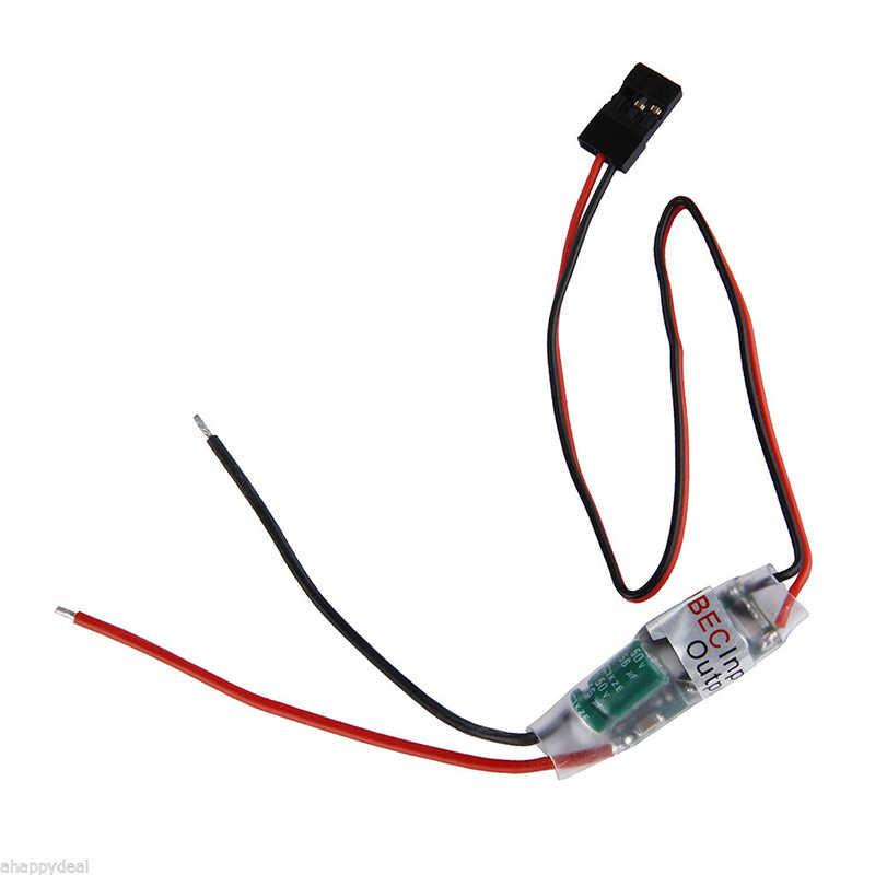 Fuente de alimentación del receptor 5 V/3A sin escobillas ESC tipo externo BEC UBEC soporte 2-6S