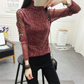 2017 Summer New Fashion Women Summer Bling T Shirt Casual Woman Shining Full Sleeve Tops Turtleneck Plus Size tee 72306