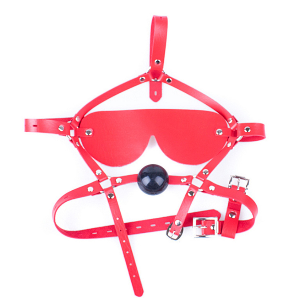 RED silicone ball gag with ajustable strap sissy maid