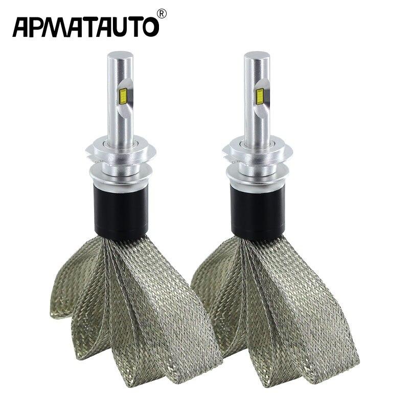 2x White 9600lm Car Headlight H7 LED H4 H8 H9 H11 HB3 9005 9006 9012 6000K