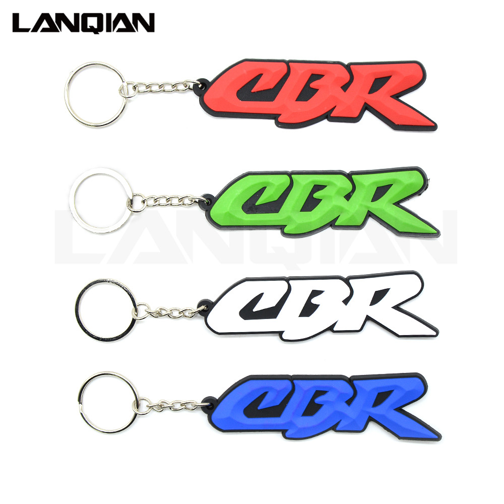 Hot Sellig Motorcycle Accessories Racing Soft Rubber Motorbike Key Ring Keychain White For Honda Cbr 600 919 954 1000 1100 Rr