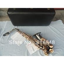 Factory wholesale– Very beautiful gift alto saxophone surface black nickel manual flowers