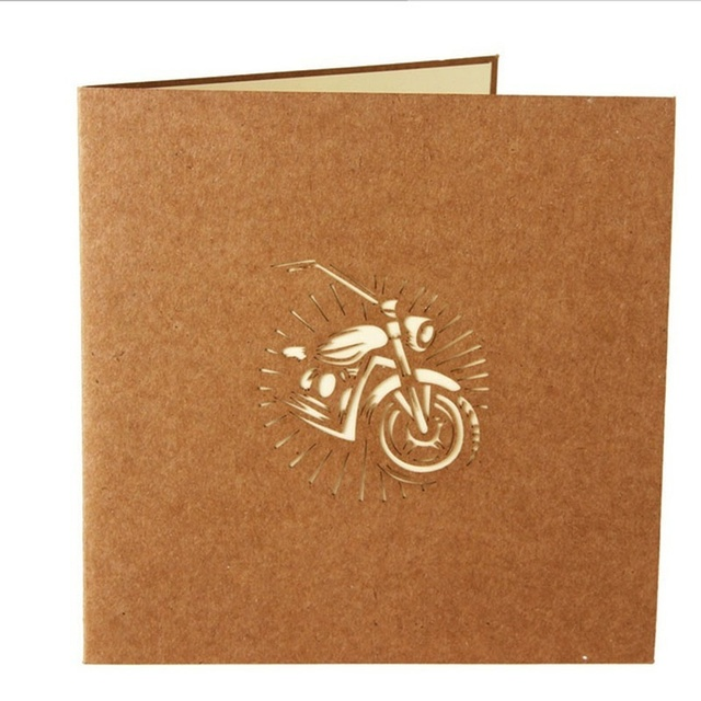 1 Pcs 3d Pop Up Greeting Cards Gift Card Motorcycle Birthday Easter