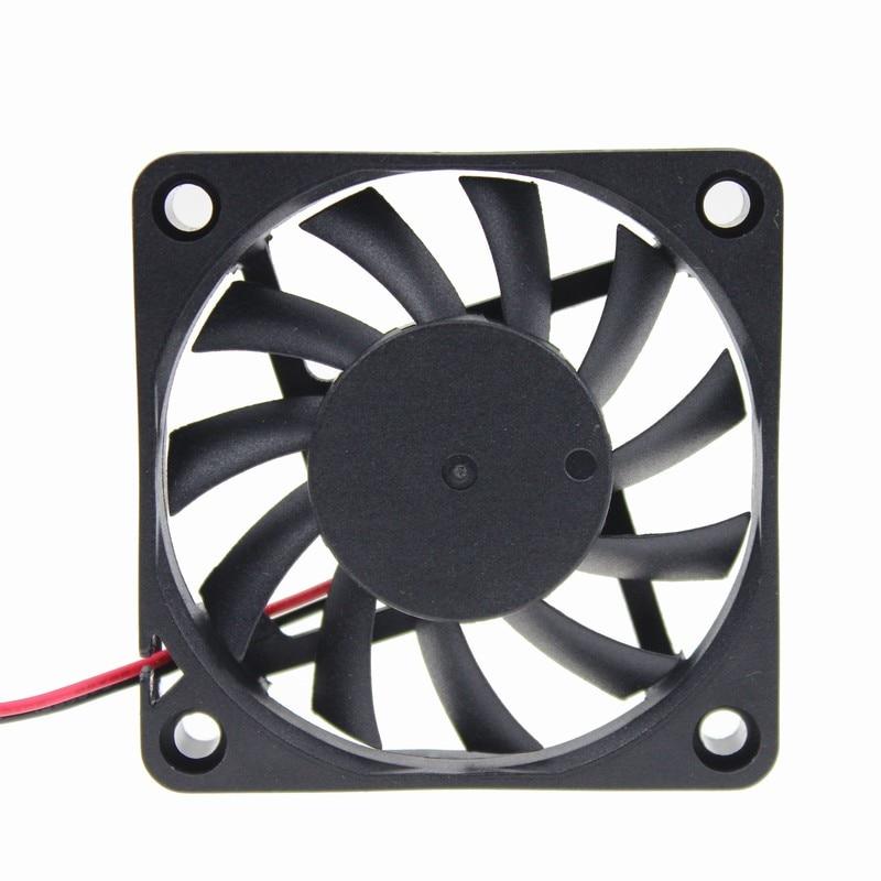 5pcs/lot Gdstime 24V 2Pin 60mm 60x60x10mm Ventilation DC Computer Cooler Cooling Fan 2pcs gdstime dc 24v 140mm x 25mmbrushless cooler cooling fan 5 5 inch 14cm 140x140x25mm big