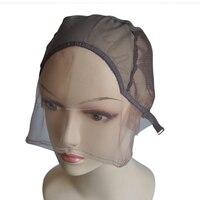 2 cái/lốc Đen/Đen Nâu/Nâu/Ligth Nâu/Màu Be Thụy Sĩ Lace Front Wig Mũ Để Làm tóc giả Với Dây Đeo Điều Chỉnh Dệt Cap