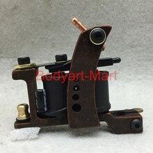 Professional Tattoo Machine 10 Warps Coils Cast Iron Red Tattoo Gun For Beginner Shader Liner GAM09-B#